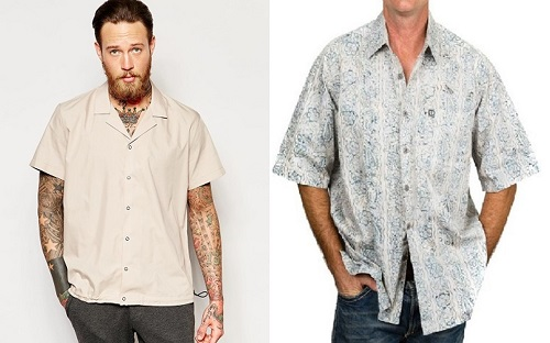 affordable Bond wardrobe camp collar shirt styles