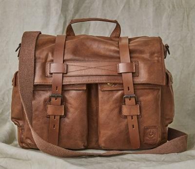 Belstaff Handwaxed Leather Messenger Bag