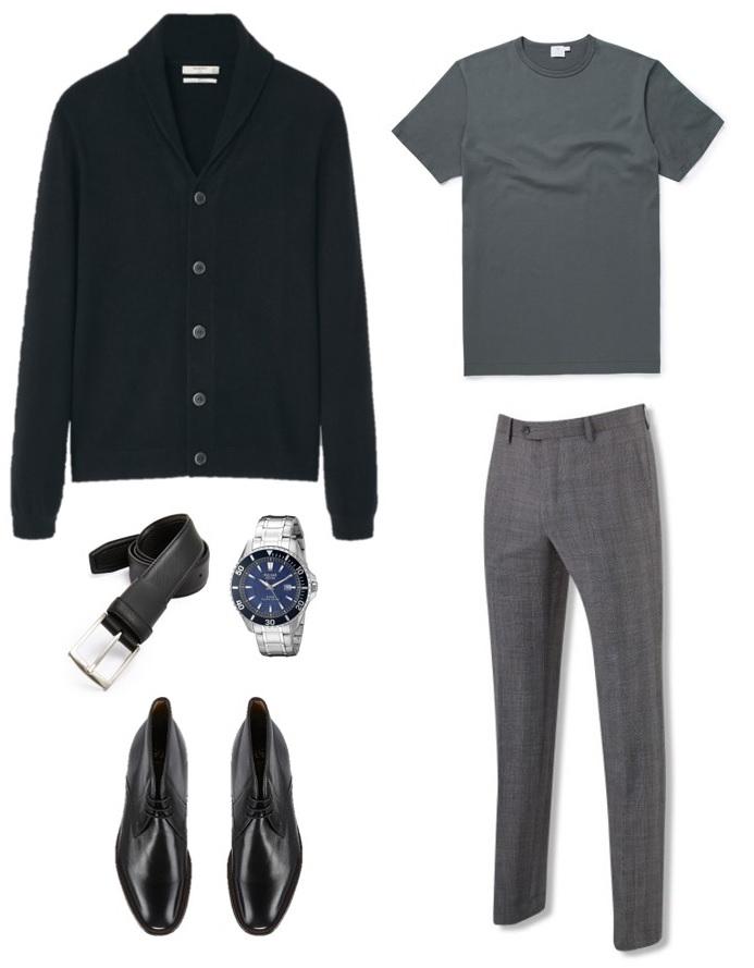 4 ways to wear the james bond black cardigan
