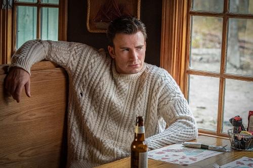 Chris Evans Knives Out Aran Knit Sweater