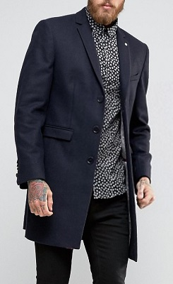 affordable alternatives Quantum of Solace navy wool overcoat