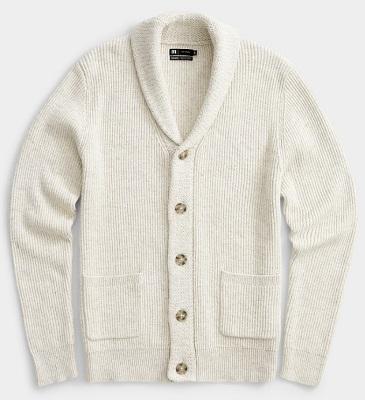 Daniel Craig Tom Ford Ivory Shawl Collar Cardigan alternative