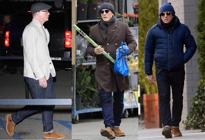 Daniel Craig R.M. Williams Gilchrist Tobacco Suede Chelsea Boots