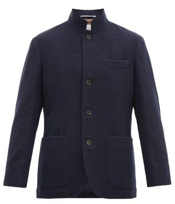Brunello Cucinelli Unstructured Navy Cashmere Jacket