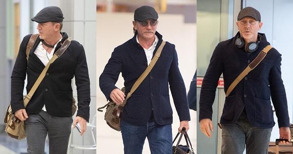 Daniel Craig Brunello Cucinelli Unstructured Navy Cashmere Jacket