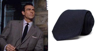 Aklasu limited edition Orbis James Bond grenadine tie