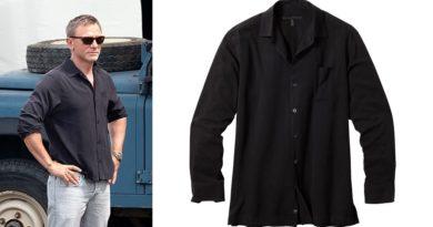 affordable alternatives James Bond black silk Jamaica shirt