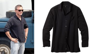 affordable alternatives James Bond black silk Jamaica shirt