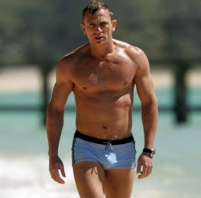 James Bond Daniel Craig Casino Royale swim trunks