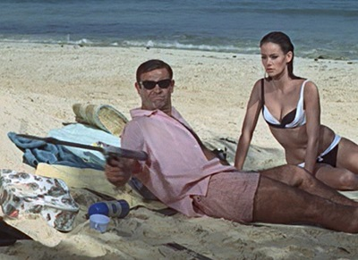 James Bond Thunderball pink swim shorts