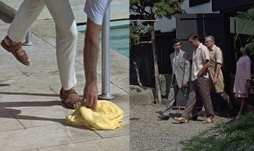 Sean Connery James Bond leather sandals