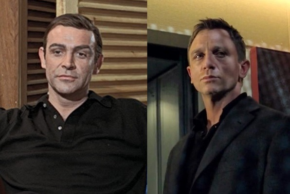 James Bond long sleeve black polo shirt