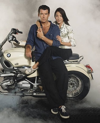 Pierce Brosnan Michelle Yeoh Tomorrow Never Dies BMW motorcycle