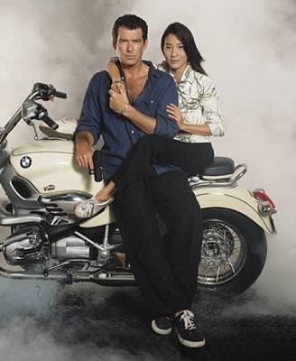 Pierce Brosnan Michelle Yeoh Tomorrow Never Dies BMW motorcycle
