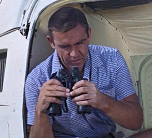 Sean Connery James Bond Thunderball Gingham check shirt