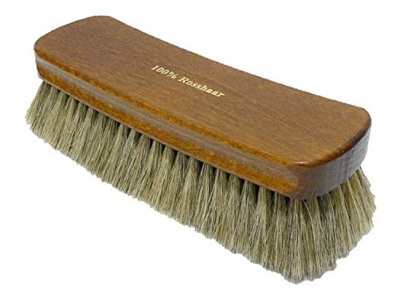 Horse hair brush for shoe care