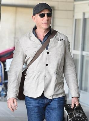 Daniel Craig Brunello Cucinelli Suede Blazer