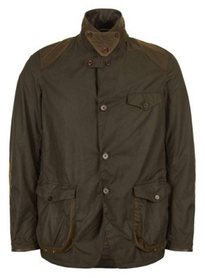 James Bond Barbour Beacon waxed sport coat