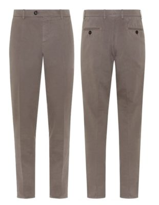 James Bond Brunello Cucinelli aged gabardine chinos