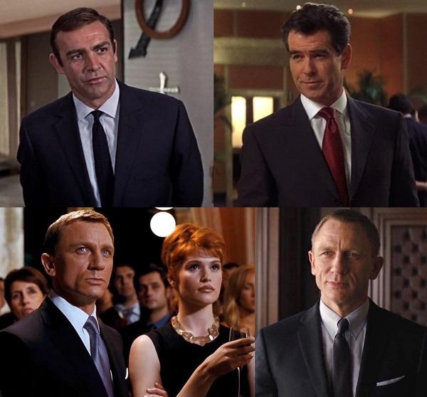 affordable James Bond wardrobe navy suits