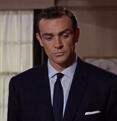 Sean Connery From Russia With Love navy blue suit