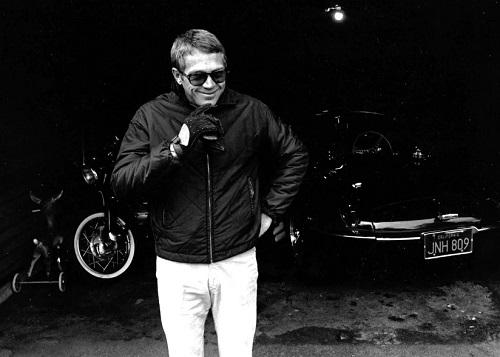 Steve McQueen garage William Claxton