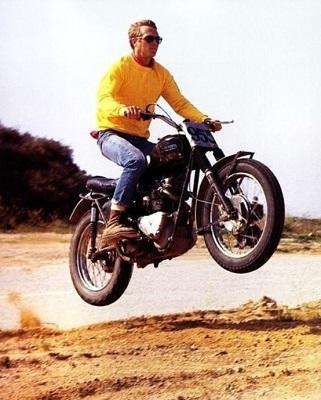 Steve McQueen Triumph TR6 Scrambler