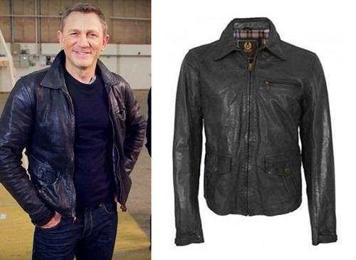 Daniel Craig Belstaff Patterson Leather Jacket