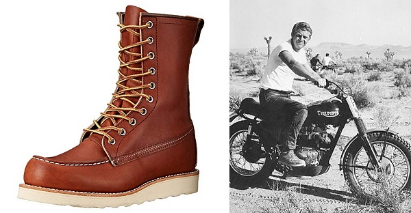 Steve McQueen Red Wing 877 Moc Toe Boots