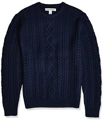 Pierce Brosnan James Bond Navy Aran Knit Sweater Goldeneye alternative