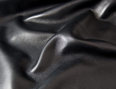 Black Lambskin Leather