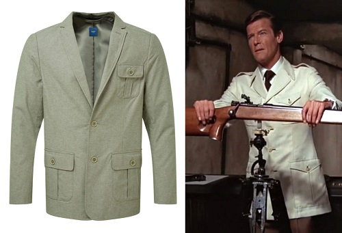 Roger Moore Safari Jacket alternative budget style