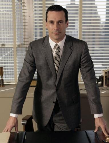 Don Draper Mad Men style grey suit