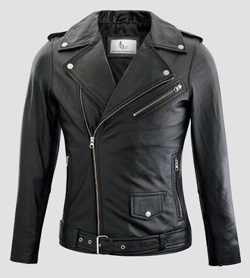 Affordable Black Leather Double Rider Jacket