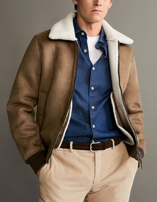 Daniel Craig Shearling Sheepsking jacket affordable alternatives