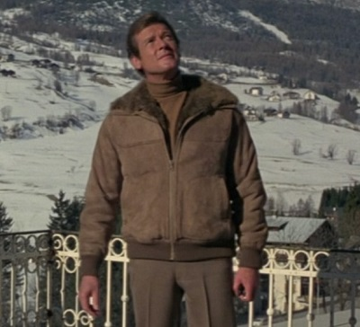 Roger Moore James Bond for Your Eyes Only Shearling Jacket
