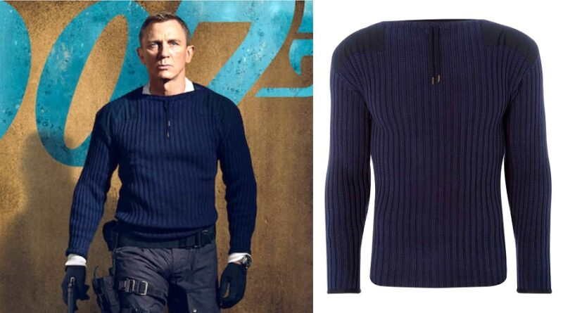 James Bond No Time To Die Commando Sweater