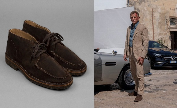 James Bond No Time to Die Drakes Crosby Suede Boots