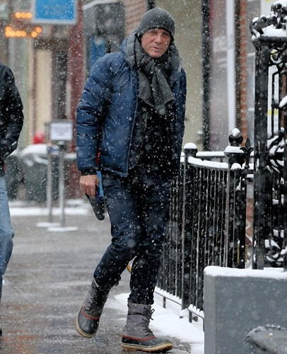Daniel Craig cold weather style Sorel Boots