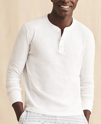 James Bond No Time To Die Long Sleeve Henley affordable alternative
