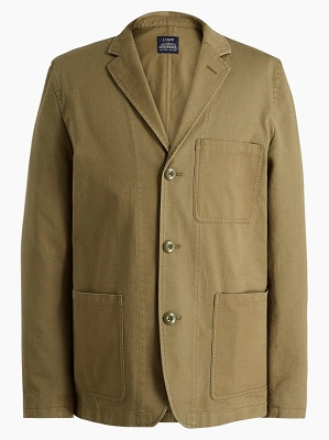 Men's olive green chore blazer