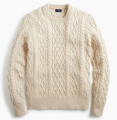 Steve McQueen Aran knit Fisherman sweater alternative