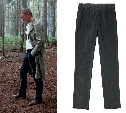 James Bond Not Time To Die Massimo Alba Mauko black Corduroy Trousers
