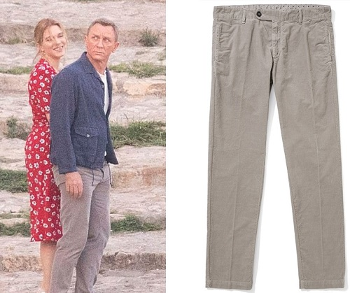 James Bond Not Time To Die Massimo Alba Winch2 Grey Corduroy Trousers