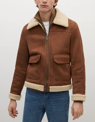 Daniel Craig Style Shearling Jacket budget alternative