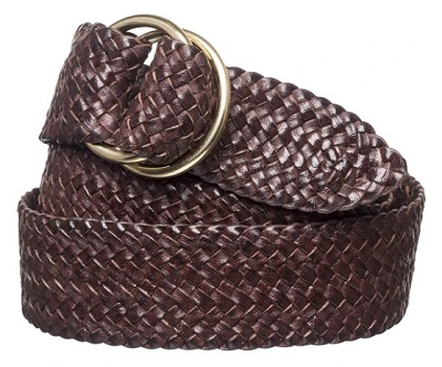 R.M. Willaims O Ring Plaited Kangaroo Leather Belt