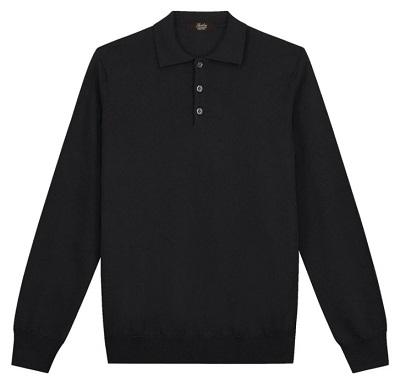 James Bond inspired black polo sweater alternative