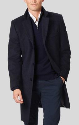 James Bond inspired Navy Overcoat affordable alternative