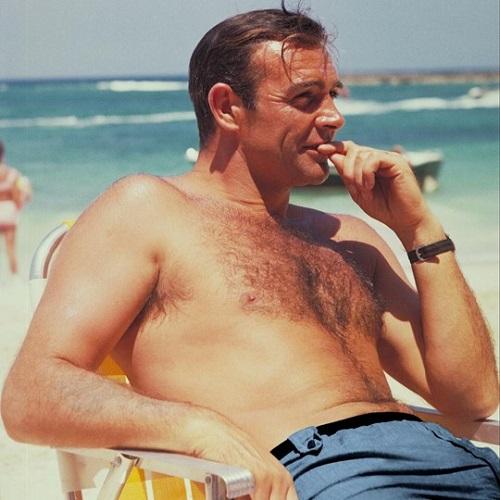 Sean Connery James Bond Thunderball blue Swim Trunks