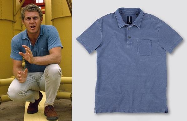 Steve McQueen blue polo shirt affordable alternative